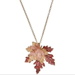 🍁 Brown Leaves Pendant Necklace 🍁